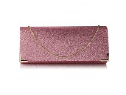 Spoločenská kabelka Glitter - rúžová champagne