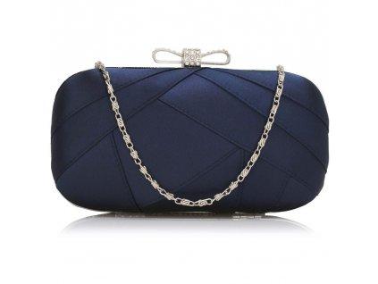 Spoločenská kabelka s mašličkou - námornícka modrá navy