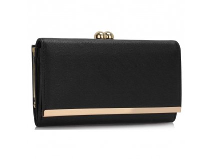 Peňaženka Kissis Gold - čierna
