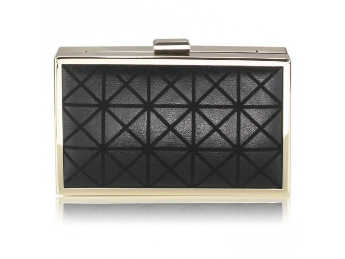 Spoločenská kabelka Origami - čierna