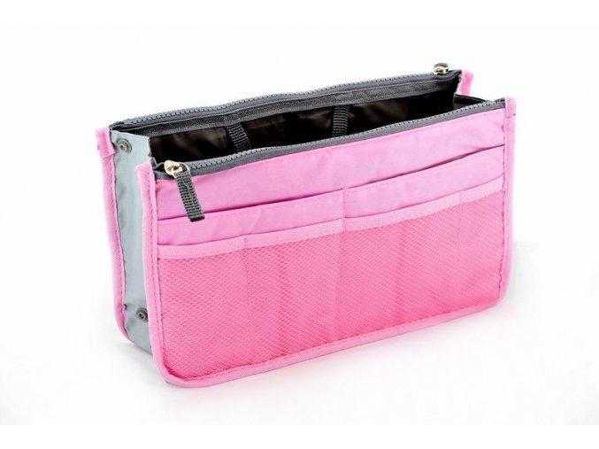 Organizér do kabelky - ružový