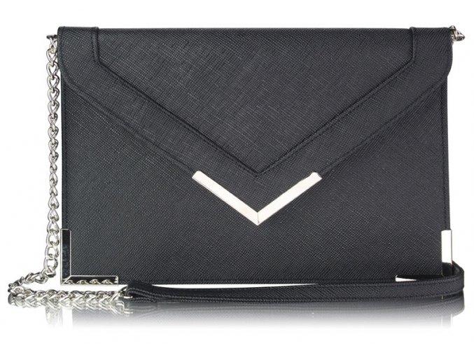 Listová kabelka Fla - čierna