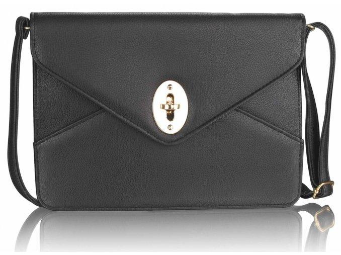 Listová kabelka Twist Lock - čierna