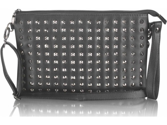 Listová kabelka Detail - čierna
