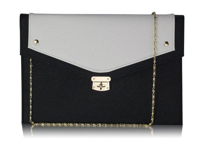Listová kabelka Large - čierno-biela