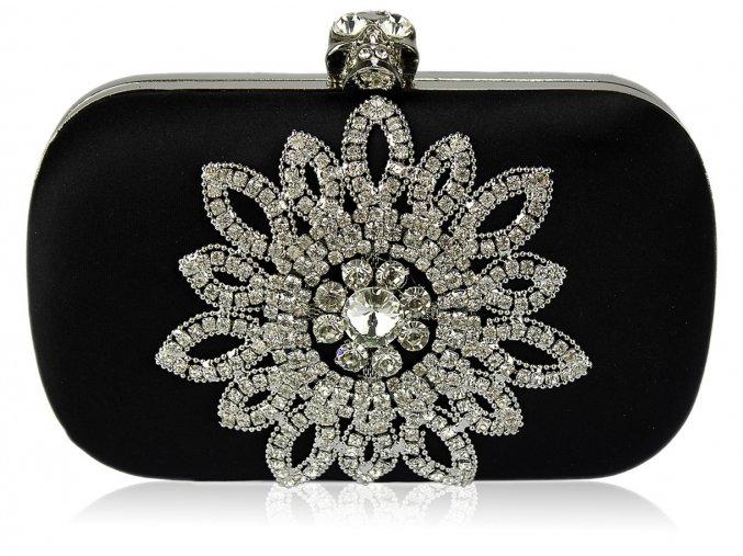 Spoločenská kabelka Crystal - čierna