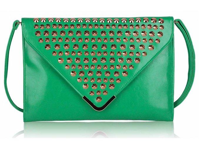 Listová kabelka Slim - smaragdová