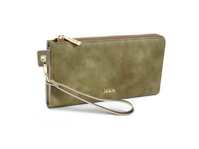 Peňaženka DOCA 64686 - olivovo zelená