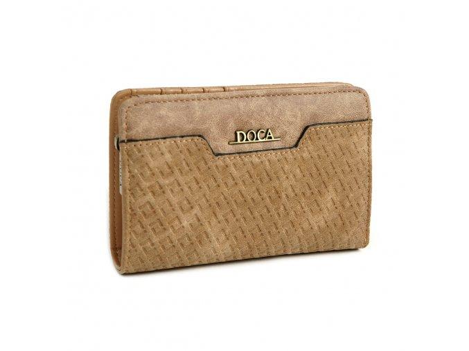 Peňaženka DOCA 64671 - hnedá