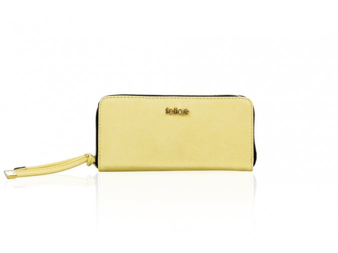 eng pl Elegant Womens leather wallet Felice P02A Yellow 18559 1