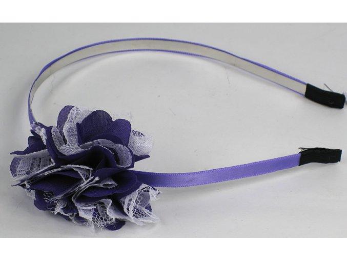 Čelenka na vlasy - fialová