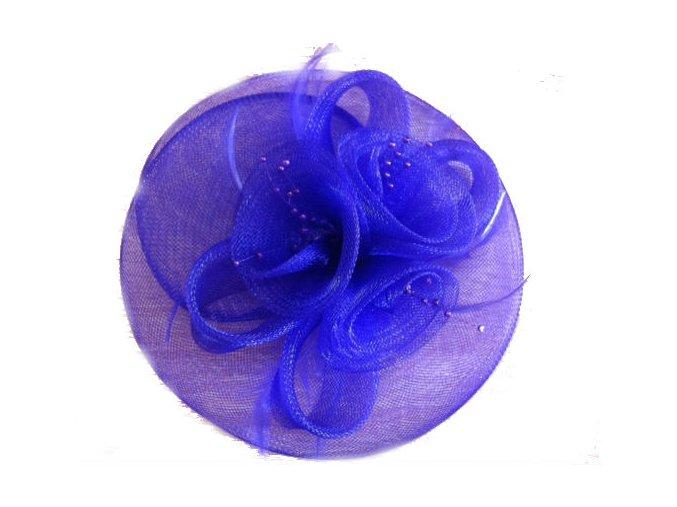 Fascinátor do vlasov - fialový