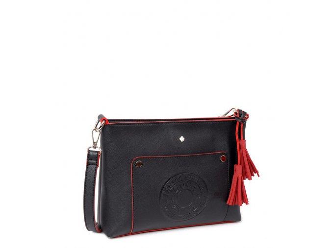 Crossbody kabelka DOCA 13097 - čierna