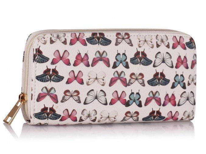 Peňaženka Motýlik - biela