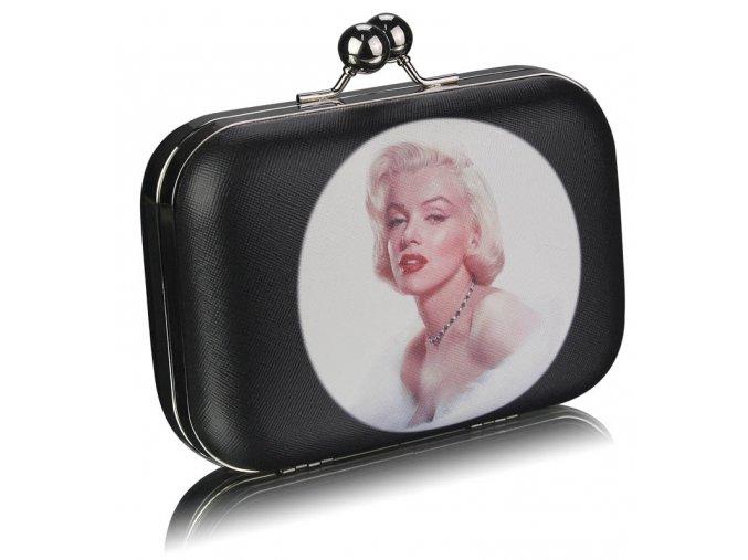 Spoločenská kabelka Marilyn - čierna