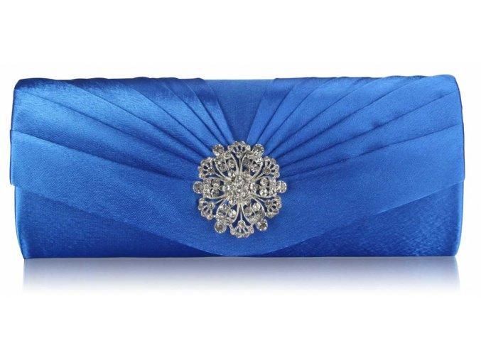 Spoločenská kabelka Flower - modrá