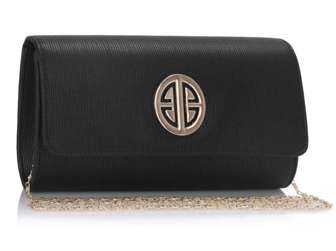 Listová kabelka Mia - čierna