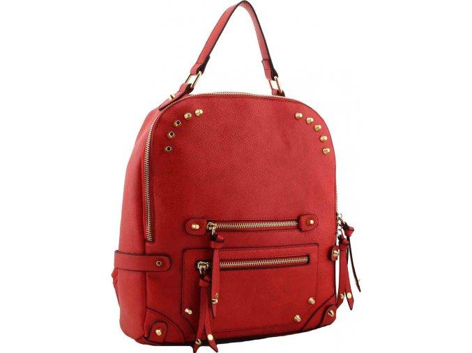 Dámsky ruksak červený H1655 kabelky.sk