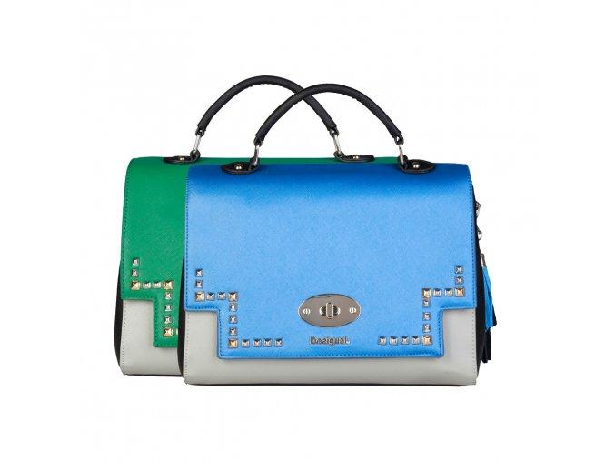 Dámska crossbody kabelka desigual 17WAXPFR 5011 modrázelená 1 kabelky.sk