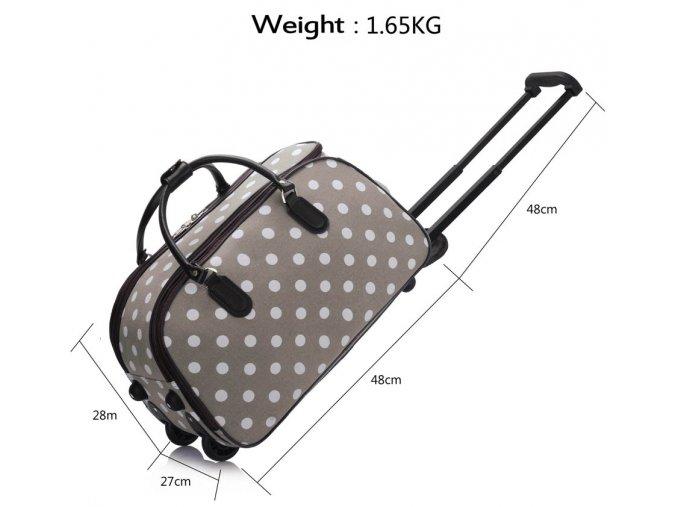 Cestovná taška Dots - fialová