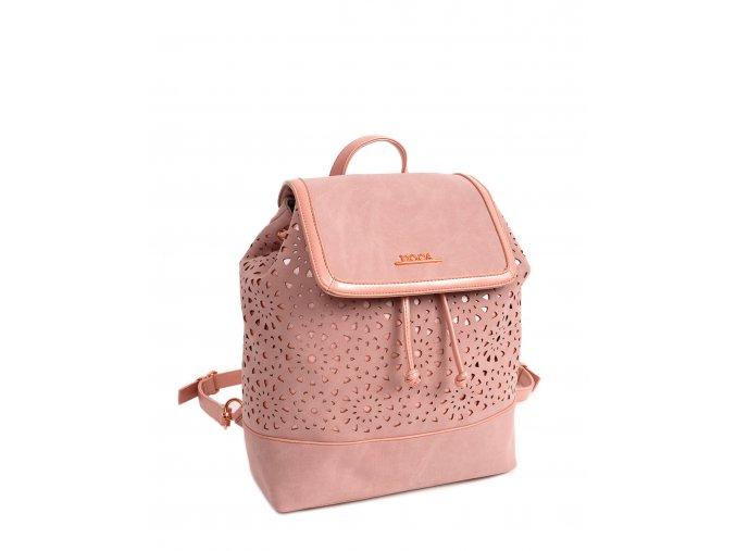 Dámsky ruksak doca 13453 ružový 1 kabelky.sk