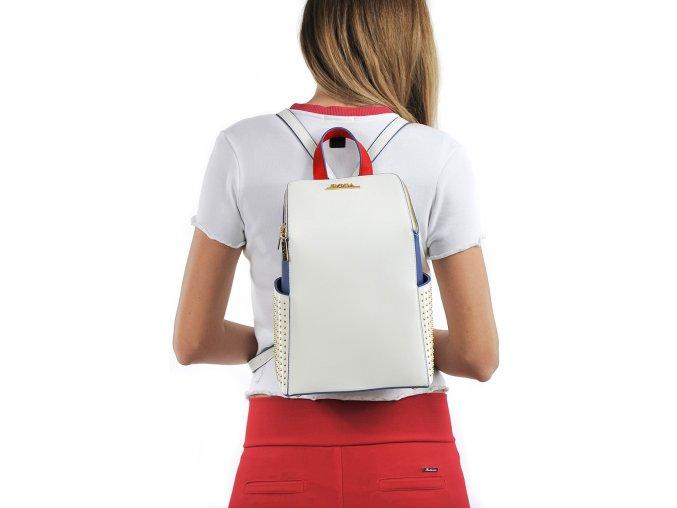 Dámsky ruksak doca 13234 biely 1 kabelky.sk