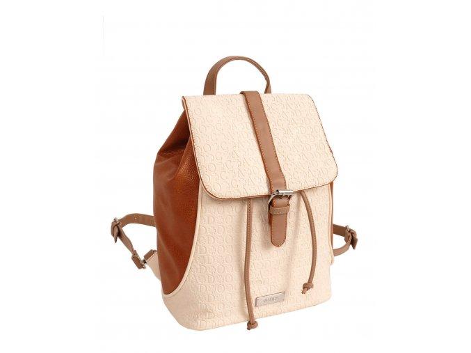 Dámsky ruksak doca 13466 krémový 1 kabelky.sk