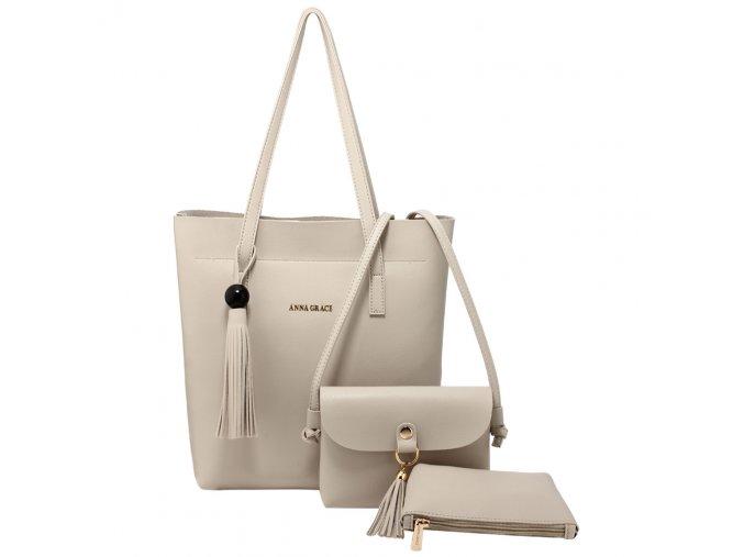 Dámsky kabelkový set Honey AG00612 krémový 1 kabelky.sk