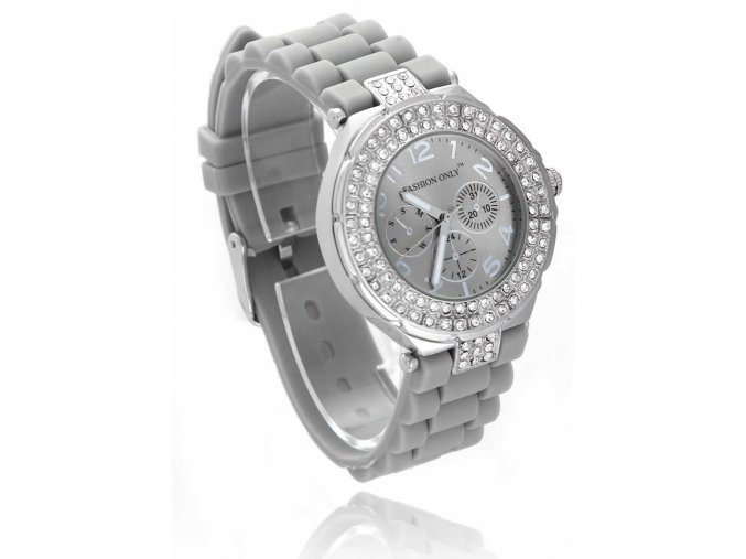 Dámske hodinky fashion only LSW001 sive,stras 1 kabelky.sk