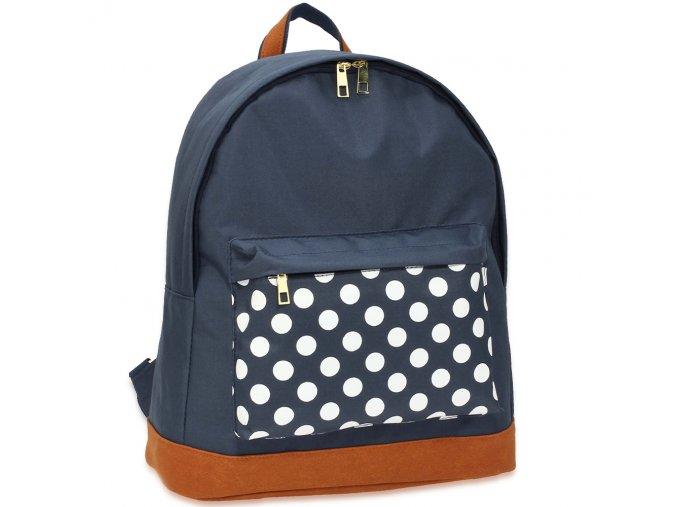 Dámsky ruksak Polka AG00620B modrý 1 kabelky.sk