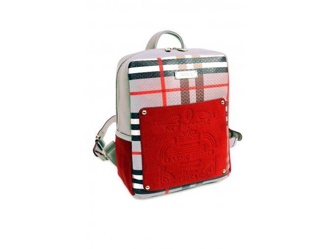 Dámsky batoh DOCA 14322 bezovy cerveny 1 kabelky.sk