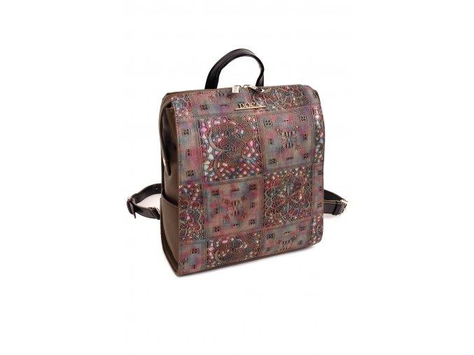 Dámsky batoh DOCA 13867 hnedý ružový 1 kabelky.sk