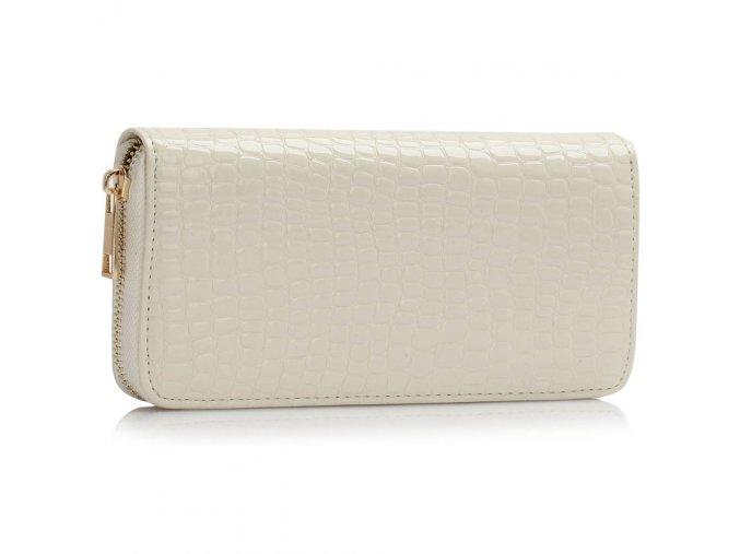 Peňaženka Crocodile - krémová