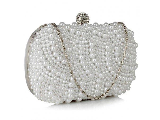 Luxusná kabelka Pearl - biela