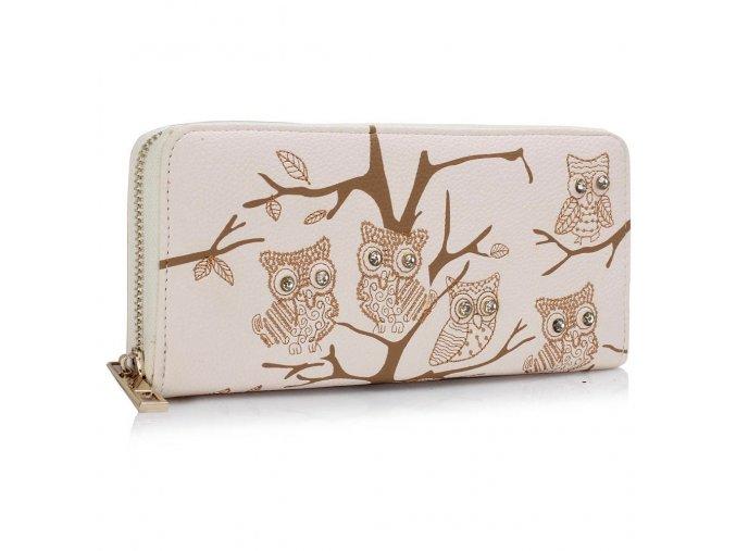 Peňaženka Owl - ivory