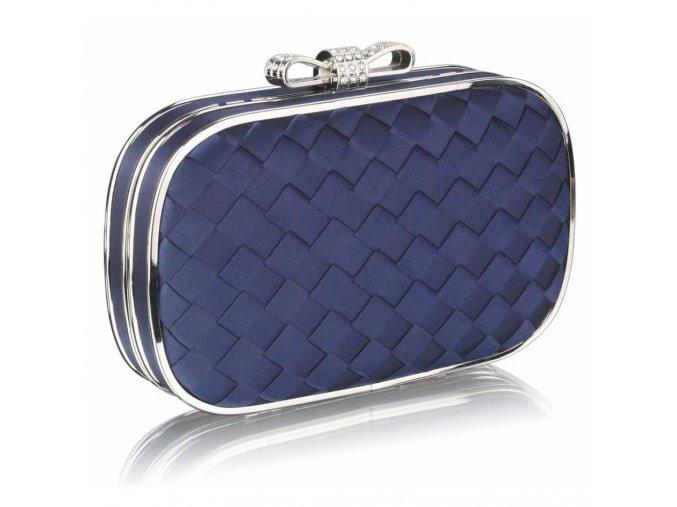 Spoločenská kabelka Patchwork - námornícka modrá navy