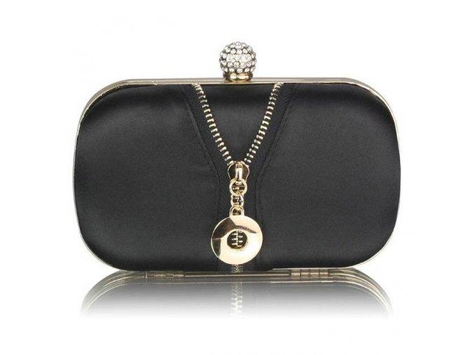 Spoločenská kabelka Charllote - čierna