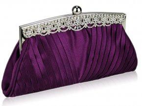 Spoločenská kabelka Ruched - fialová