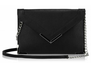 Listová kabelka Flapover - čierna