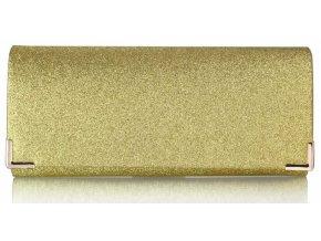Spoločenská kabelka Glitter - zlatá