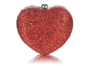 Spoločenská kabelka Srdce - červené