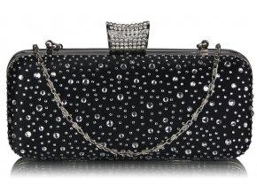 Spoločenská kabelka Sparkly - čierno strieborná