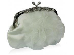 Spoločenská kabelka Flowers - ivory