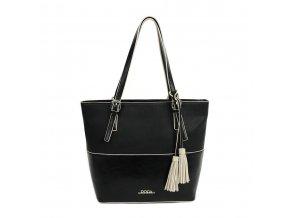 Kabelka DOCA 12174 - čierna