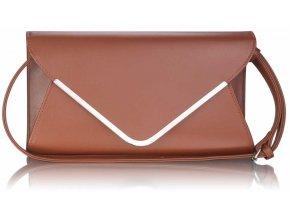 Listová kabelka Flap - hnedá