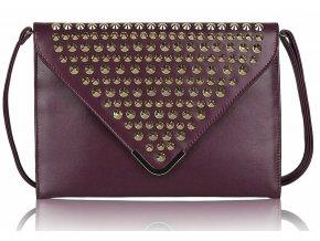 Listová kabelka Slim - fialová