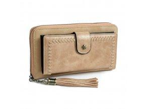 Peňaženka DOCA 64657 - hnedá