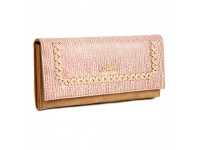 Peňaženka DOCA 64703 - ružová/hnedá