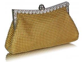 Spoločenská kabelka Spark - zlatá