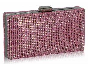 Spoločenská kabelka Krystal - ružová